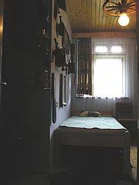 Az első szoba a Nagy Zöldfenyő kulcsosházban