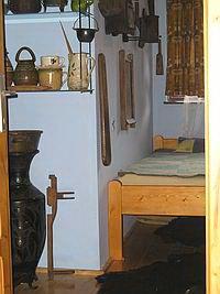A második szoba a Nagy Zöldfenyő kulcsosházban