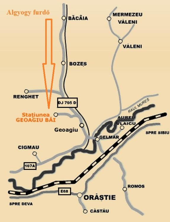 Feredőgyógy  turisztikai térképe - szállás