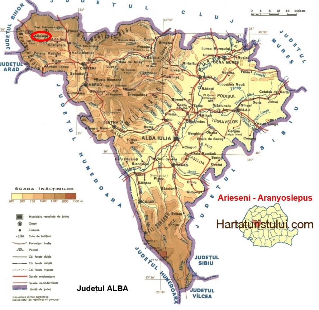 Aranyoslepus turisztikai térképe - szállás