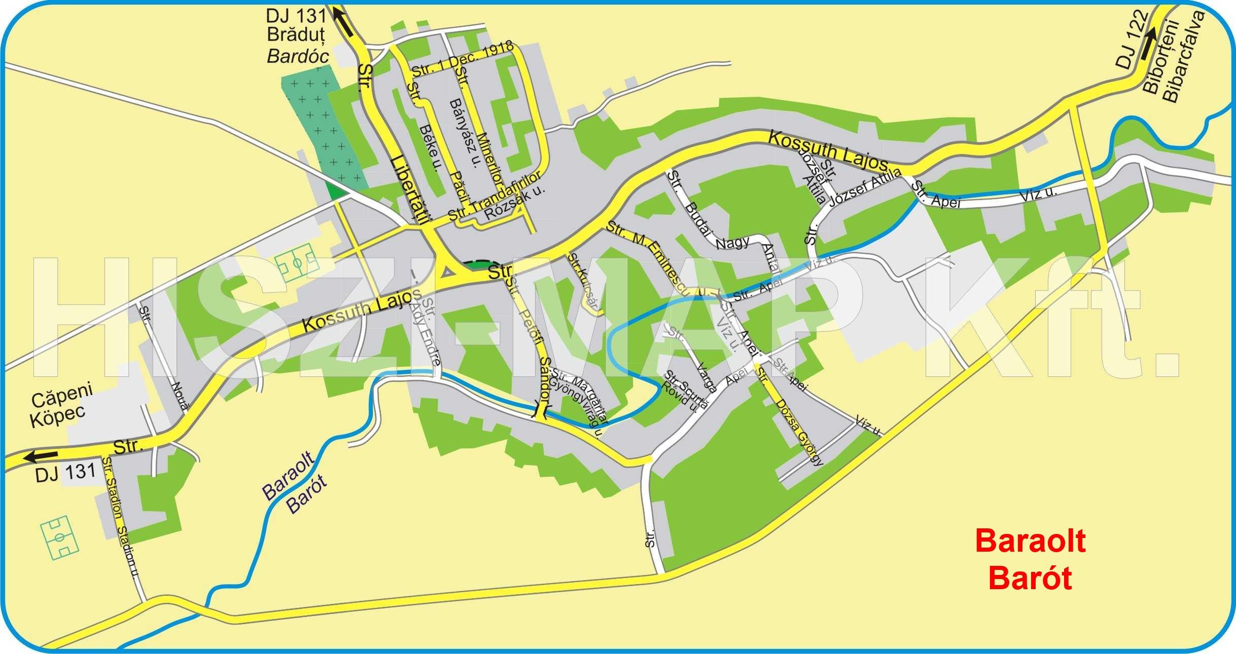 Barotturisztikai térképe - szállás