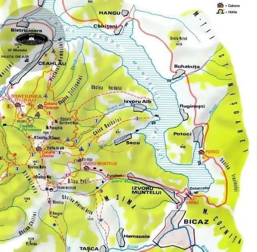 Békási tó turisztikai térképe - szállás