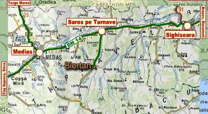 Berethalom turisztikai térképe - szállás
