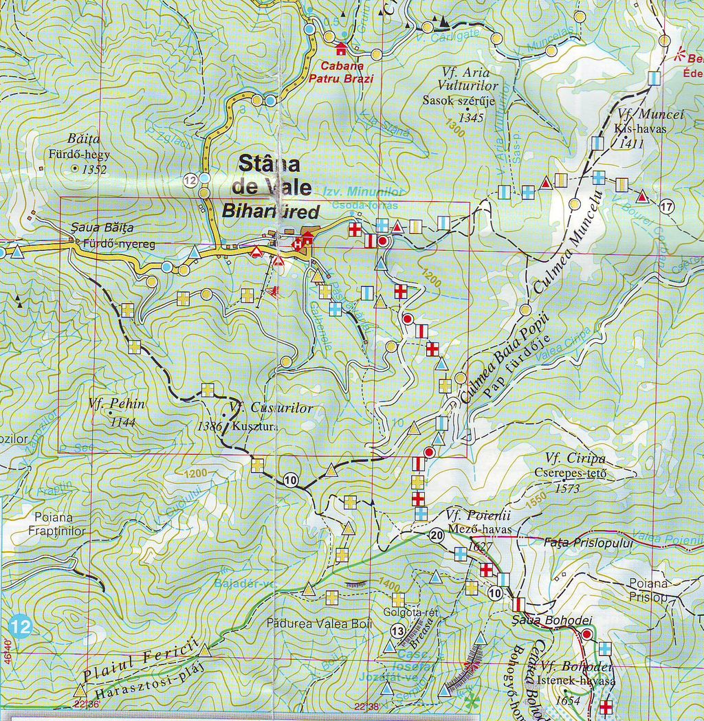 Biharfüred turisztikai térképe - szállás