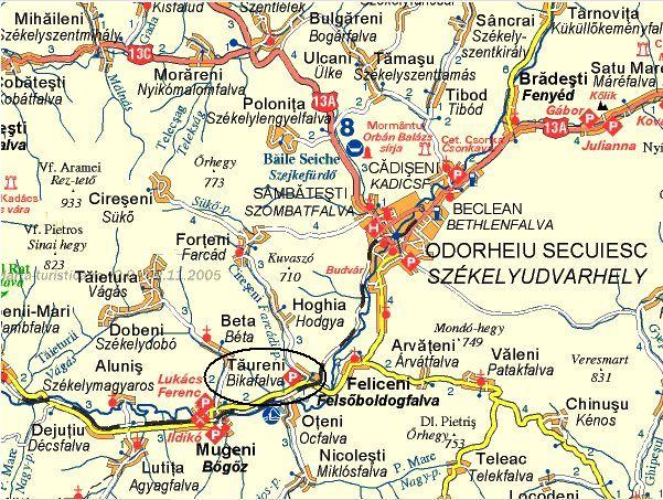 Bikafalva Hargita Megye Erdely Karpatmedence Romania