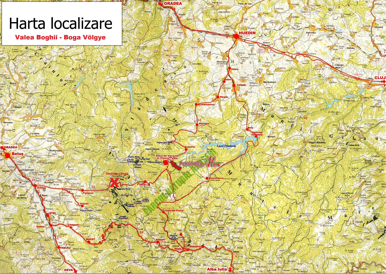 Boga Völgye turisztikai térképe - szállás