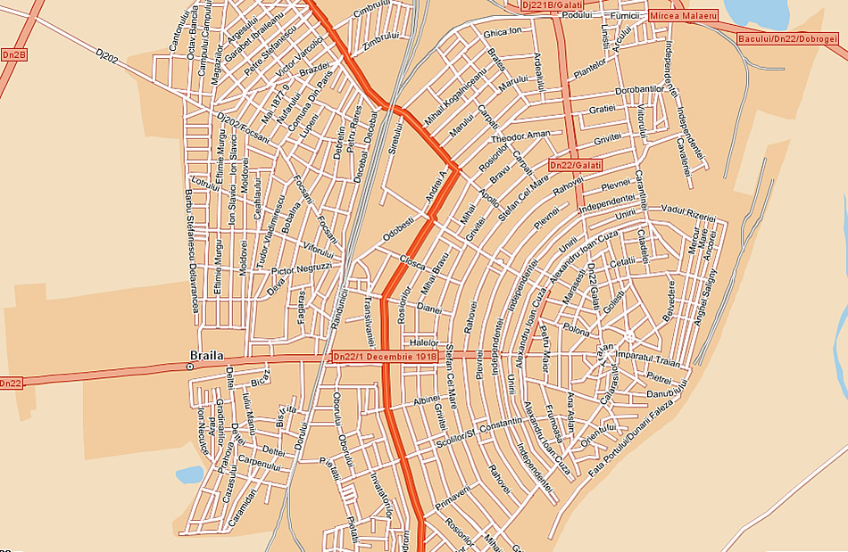 Braila turisztikai térképe - szállás