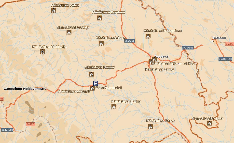 Agyagfalvaturisztikai térképe - szállás