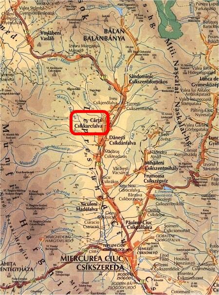 Nyárádszereda turisztikai térképe - szállás