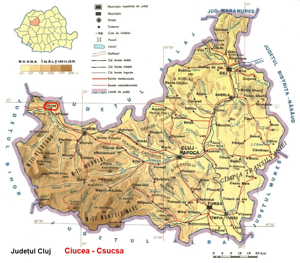 Csucsa turisztikai térképe - szállás