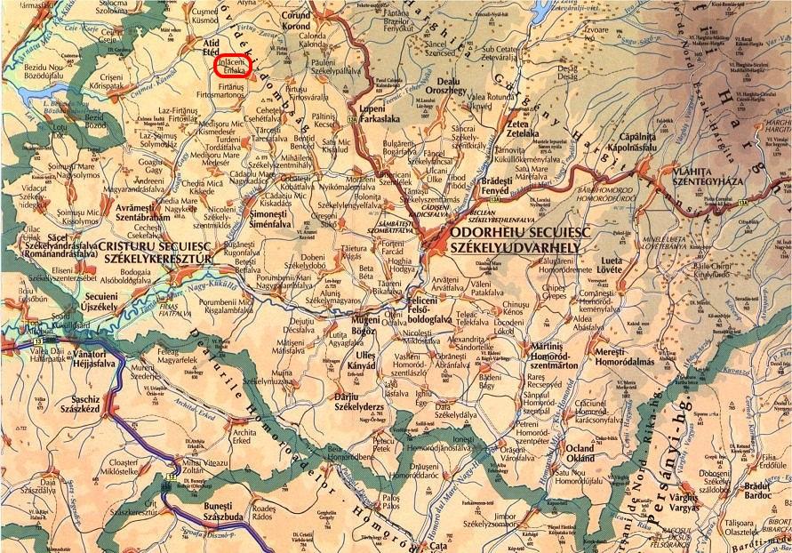 Énlakaturisztikai térképe - szállás