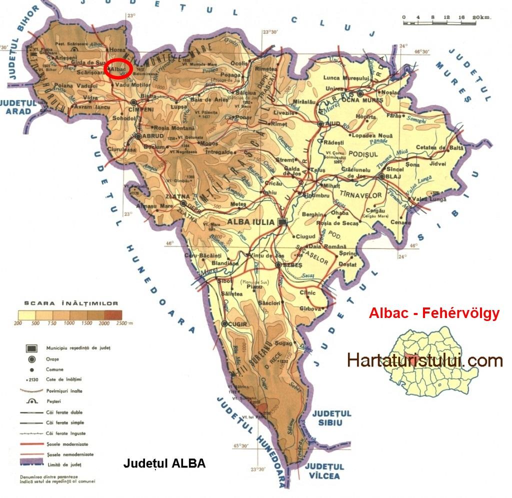 Fehérvölgy turisztikai térképe - szállás