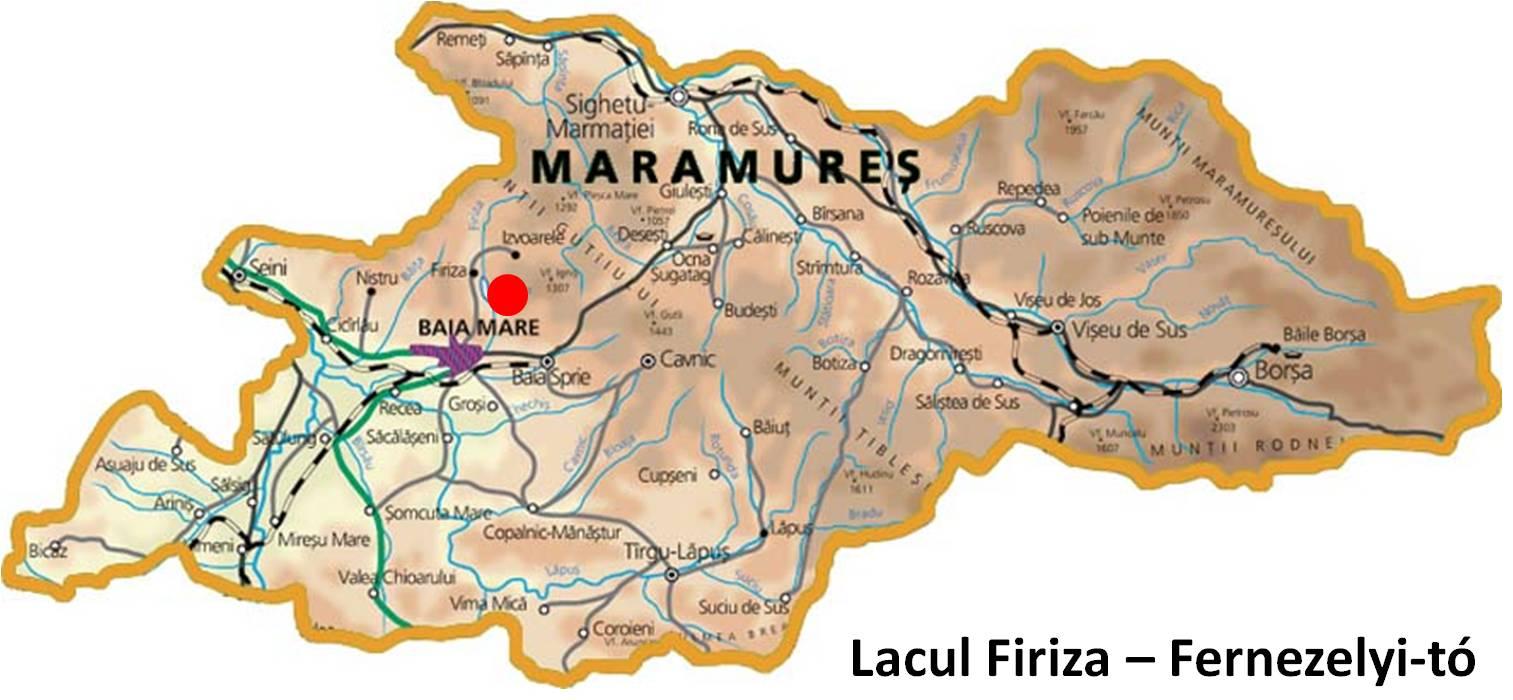 Fernezelyi tó turisztikai térképe - szállás