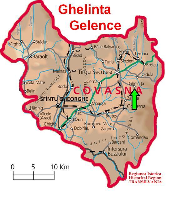 Gelenceturisztikai térképe - szállás