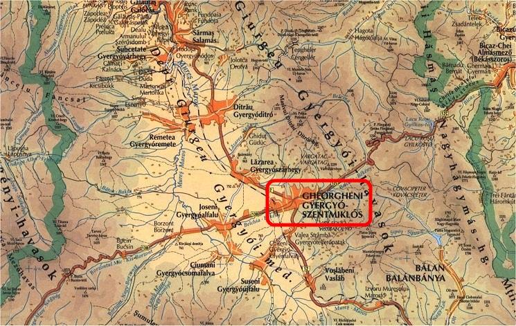 Gyergyószentmiklós turisztikai térképe - szállás