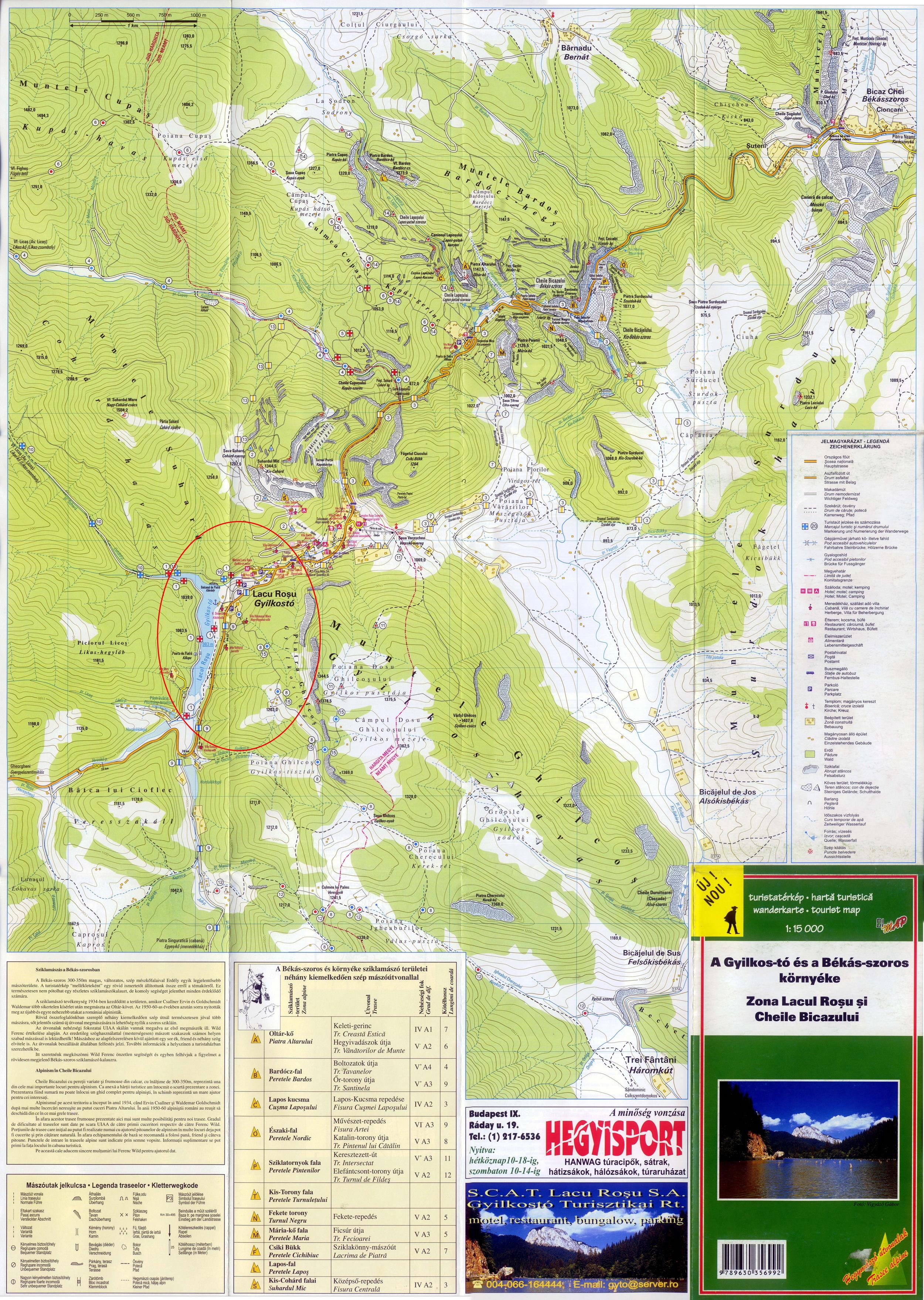 Gyilkostóturisztikai térképe - szállás