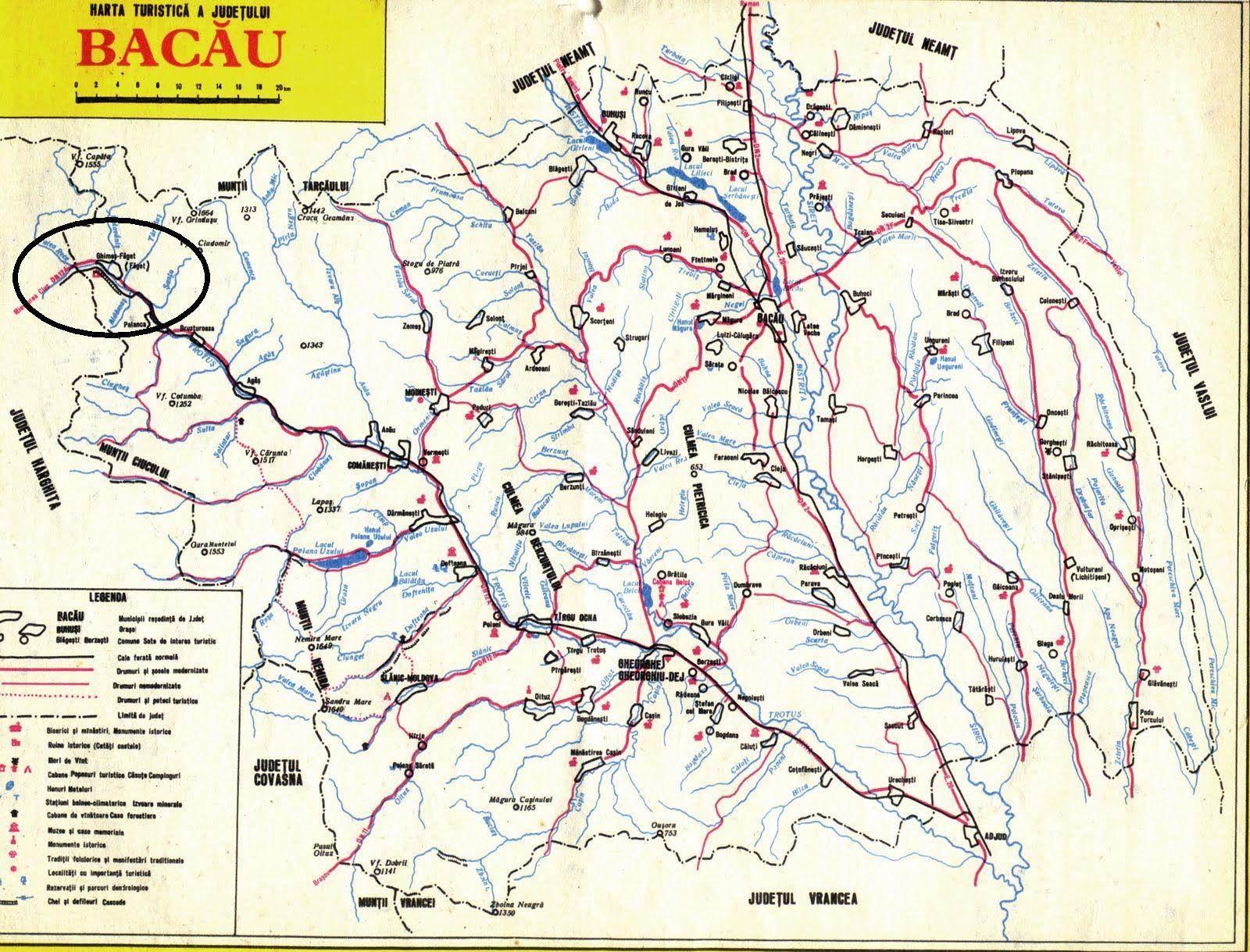 Gyimesbükk turisztikai térképe - szállás