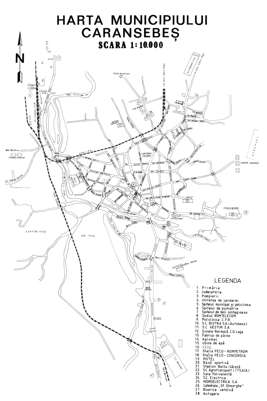 Karánsebes turisztikai térképe - szállás