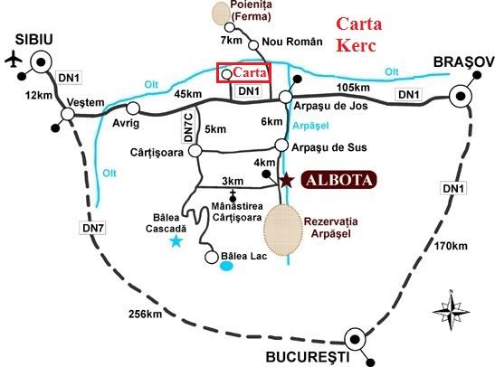 Kerc turisztikai térképe - szállás