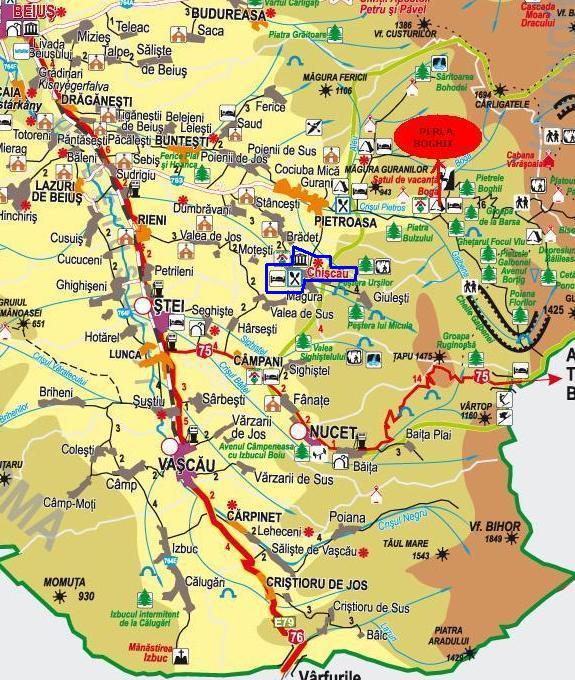 Kiskoh - Medve-barlang turisztikai térképe - szállás