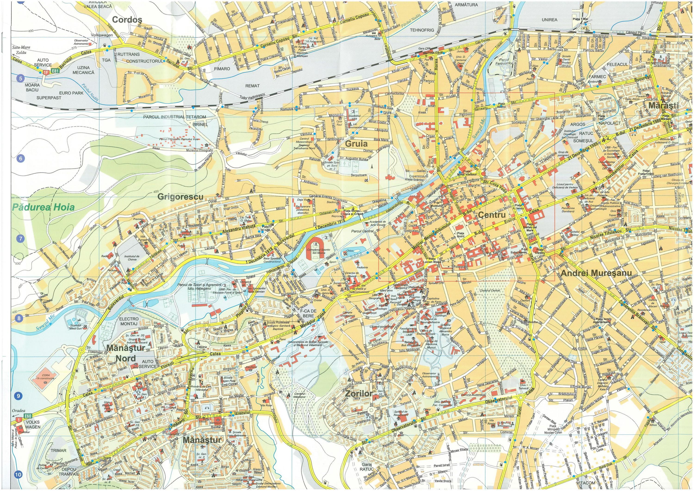 Kolozsvár turisztikai térképe - szállás