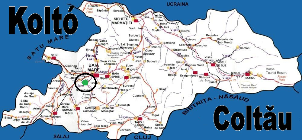 Kolto turisztikai térképe - szállás