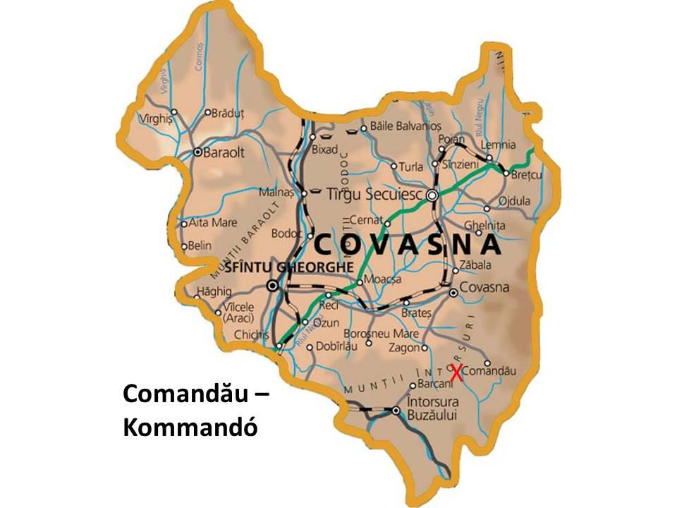 Kommandoturisztikai térképe - szállás