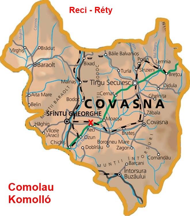 Komollo turisztikai térképe - szállás