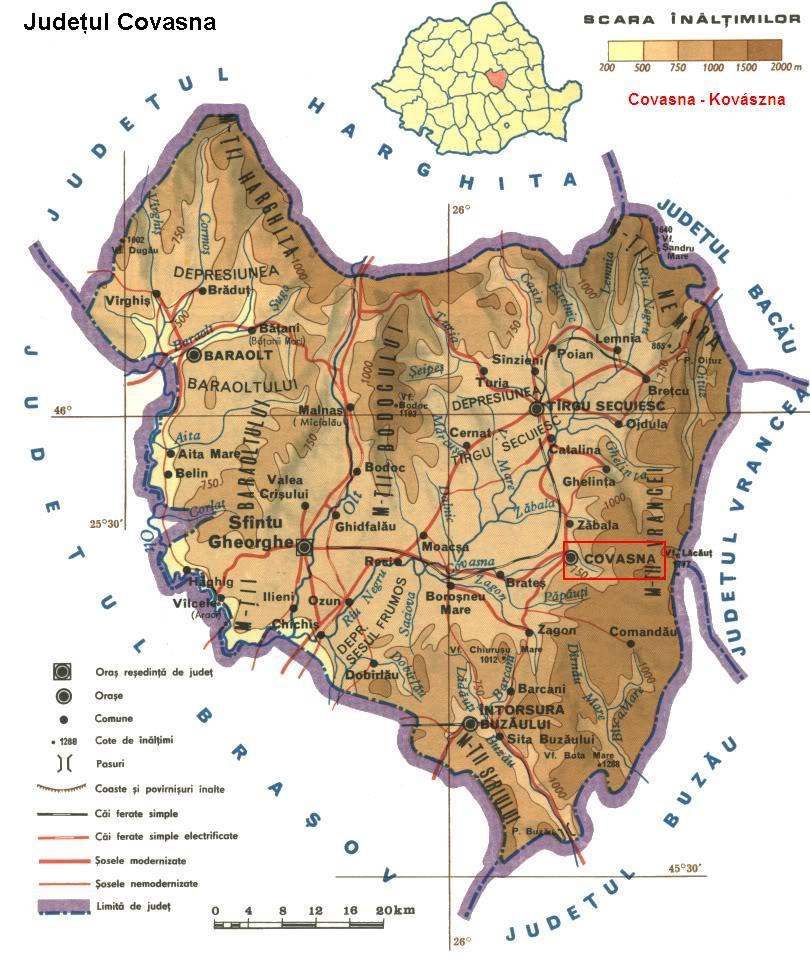 Kovásznaturisztikai térképe - szállás
