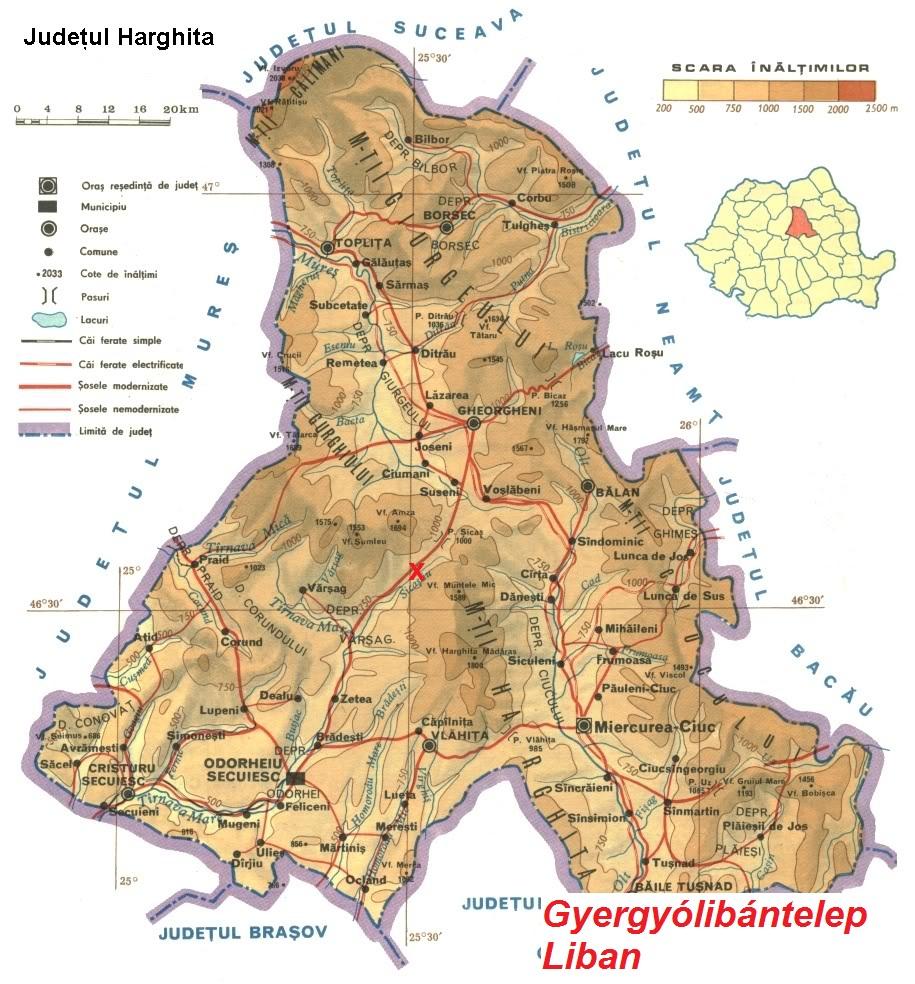 Gergyólibántelepturisztikai térképe - szállás