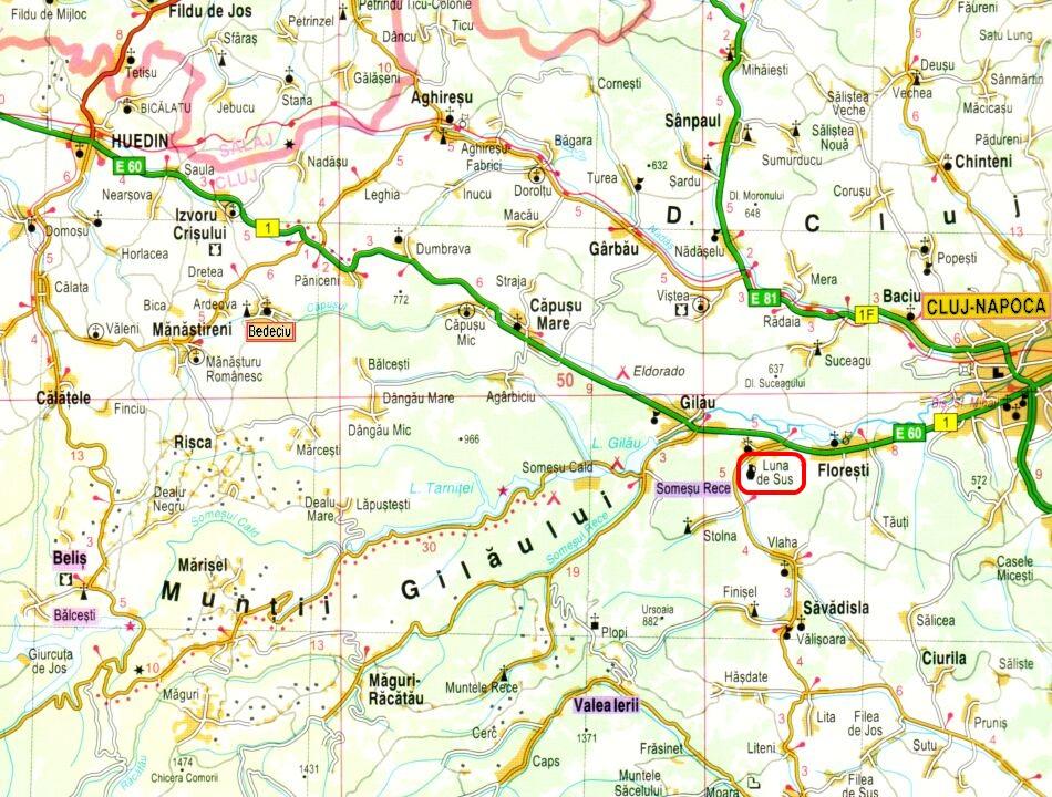 Magyarlóna turisztikai térképe - szállás