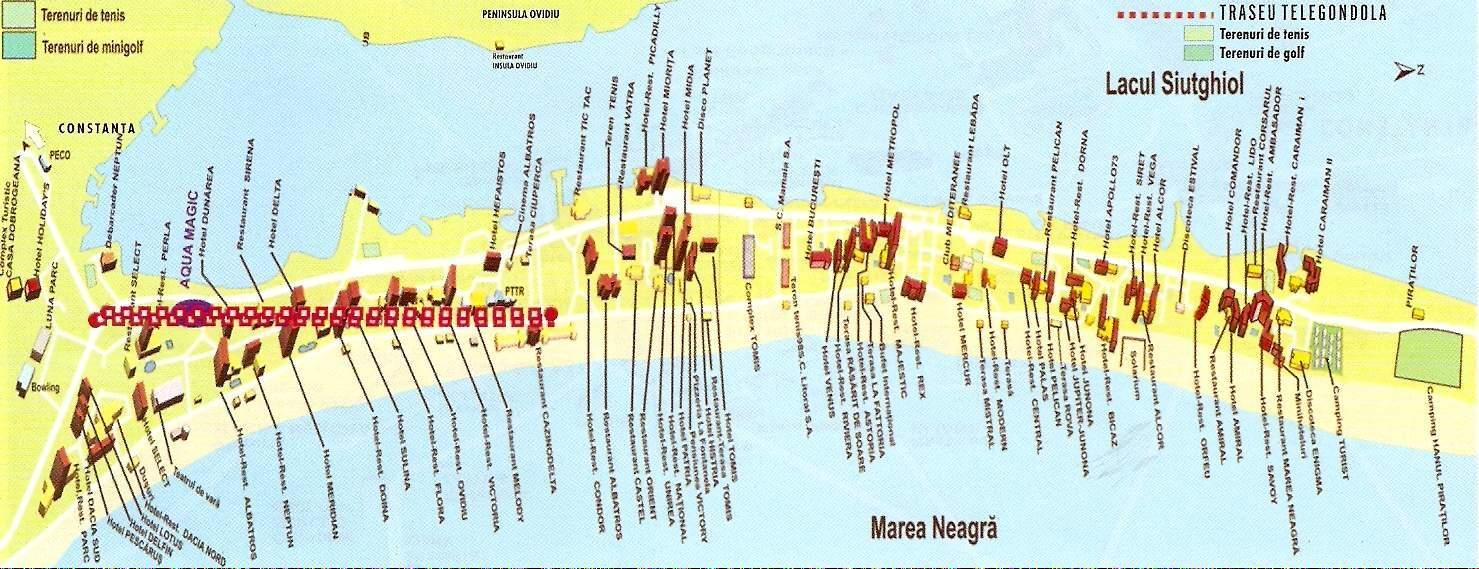 Mamaiaturisztikai térképe - szállás