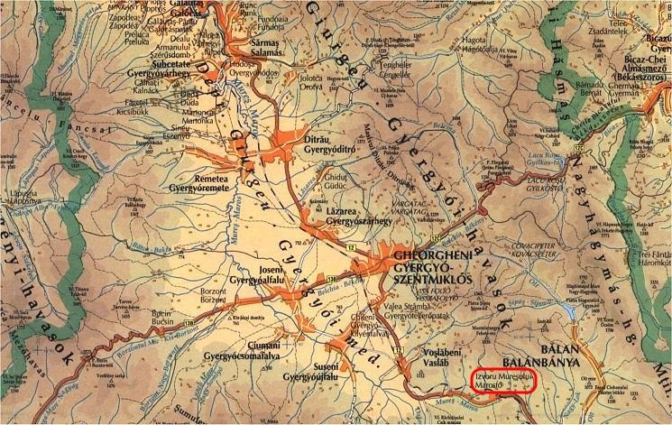 Marosfőturisztikai térképe - szállás