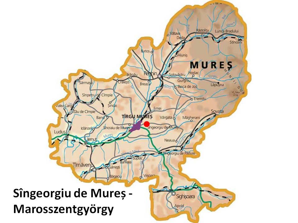 Marosszentgyörgy turisztikai térképe - szállás