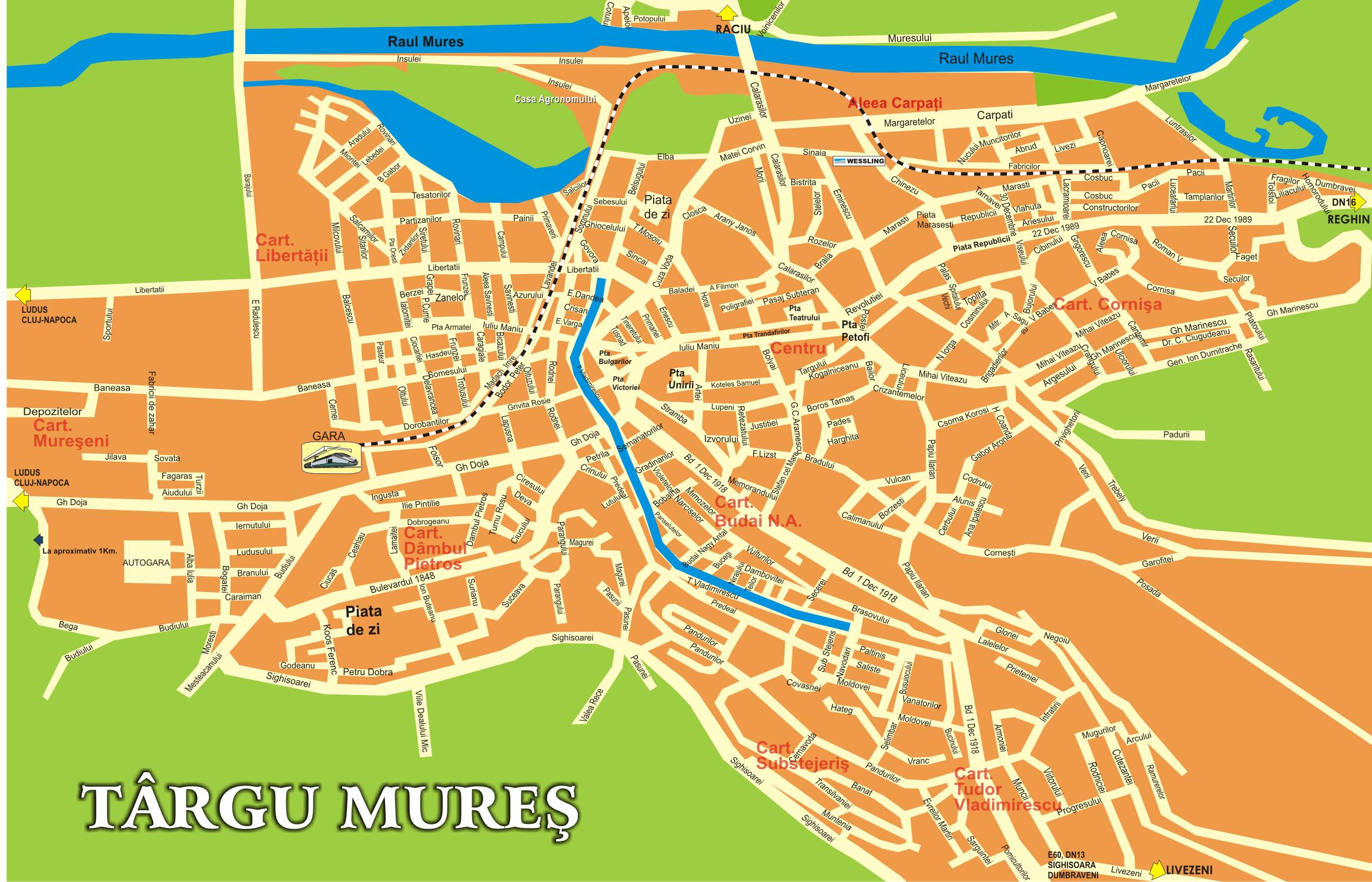 vásárhely térkép MAROSVÁSÁRHELY szállás Marosvasarhely Ifjúság Hotel