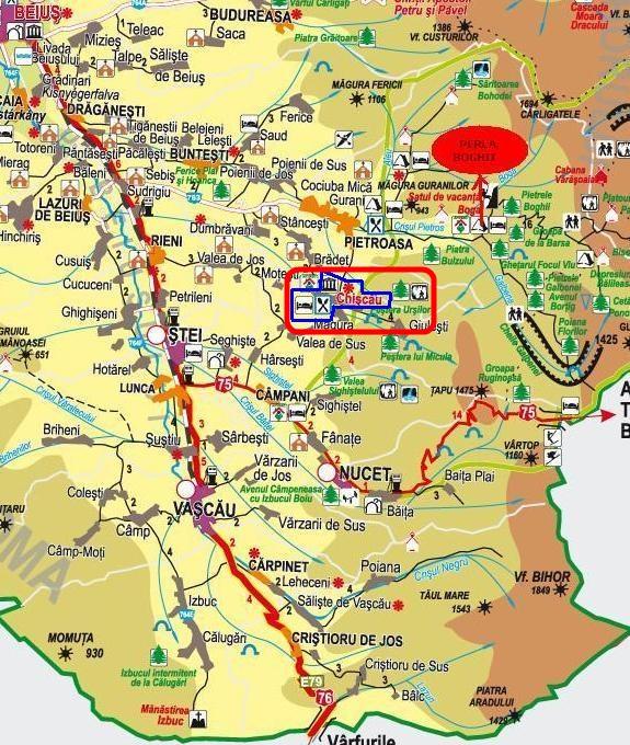 Medve-barlang - Kiskoh turisztikai térképe - szállás