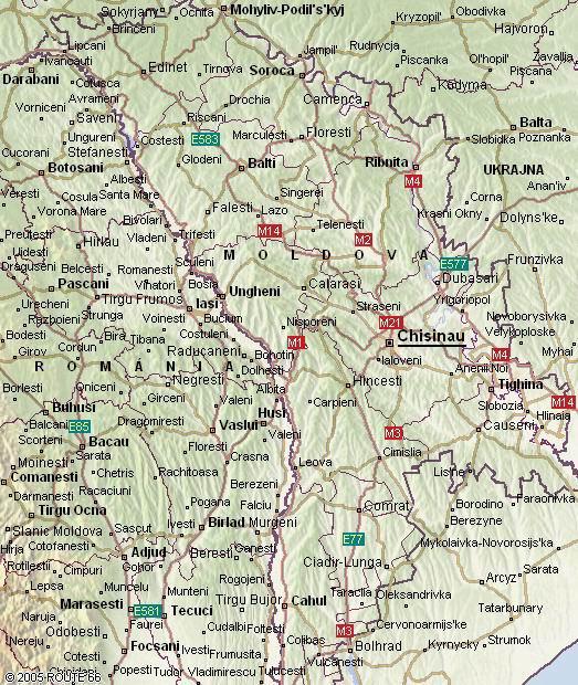 moldva térkép Moldva térkép