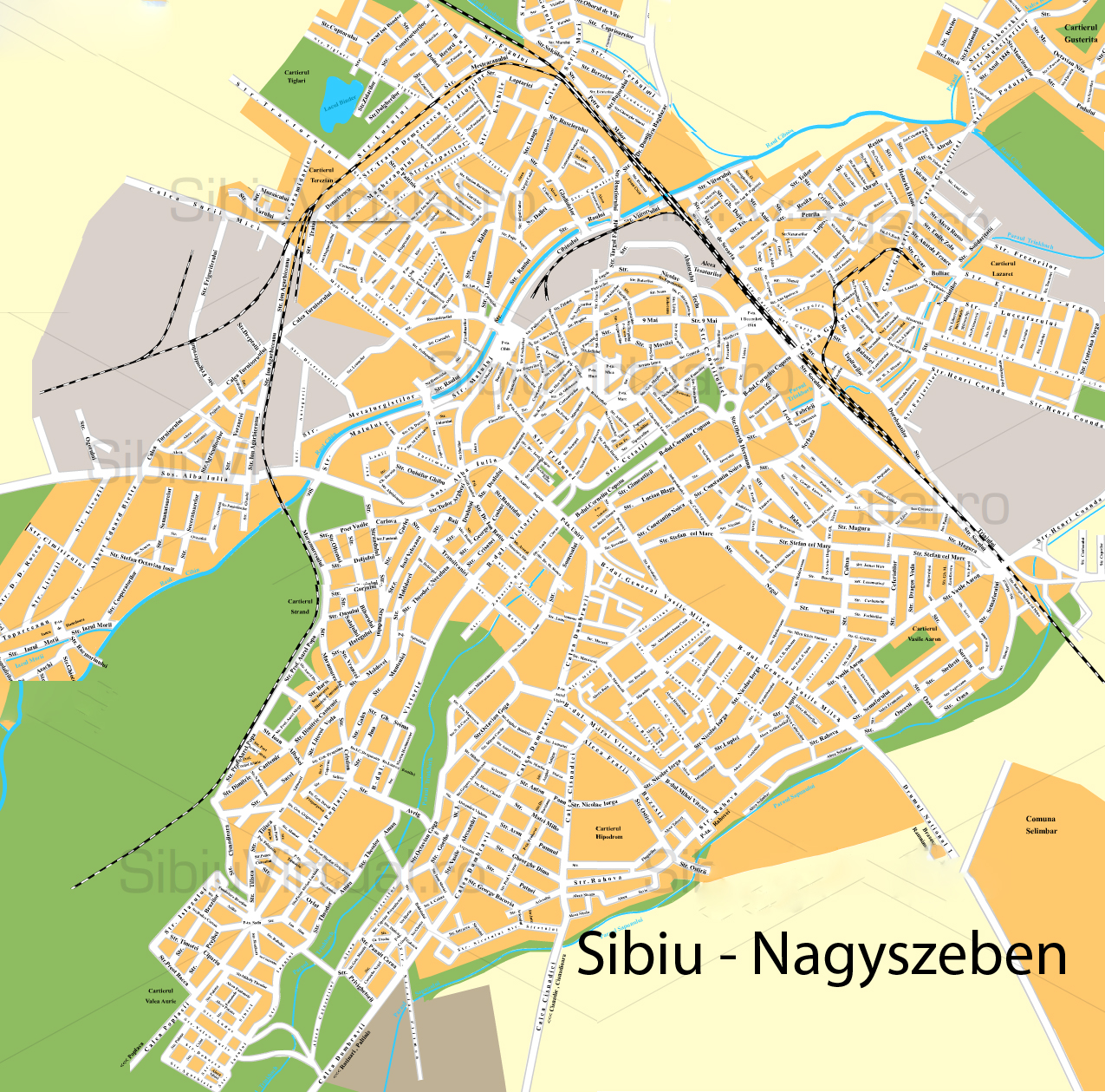 Nagyszeben turisztikai térképe - szállás
