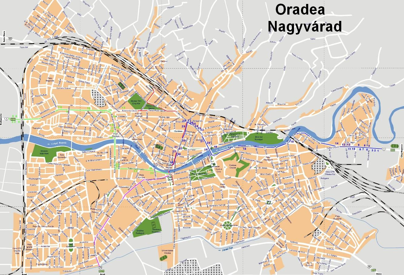 nagyvárad térkép Nagyvárad   Bihar megye   Körös   Kárpátmedence   Románia nagyvárad térkép