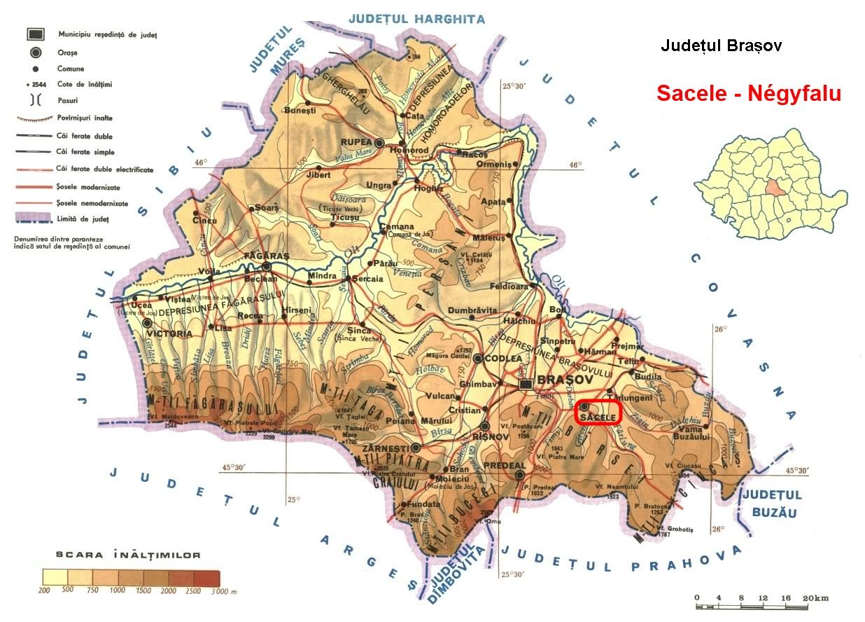 Négyfalu turisztikai térképe - szállás