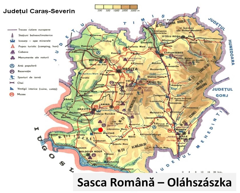 Oláhszászka turisztikai térképe - szállás