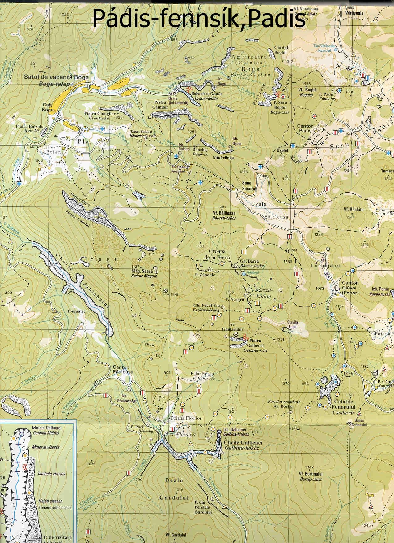 Pádis turisztikai térképe - szállás