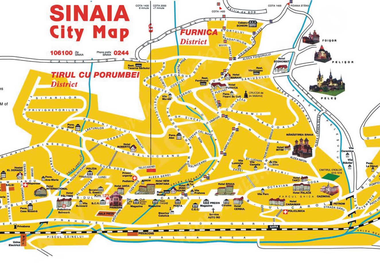 Peles Kastély  turisztikai térképe - szállás