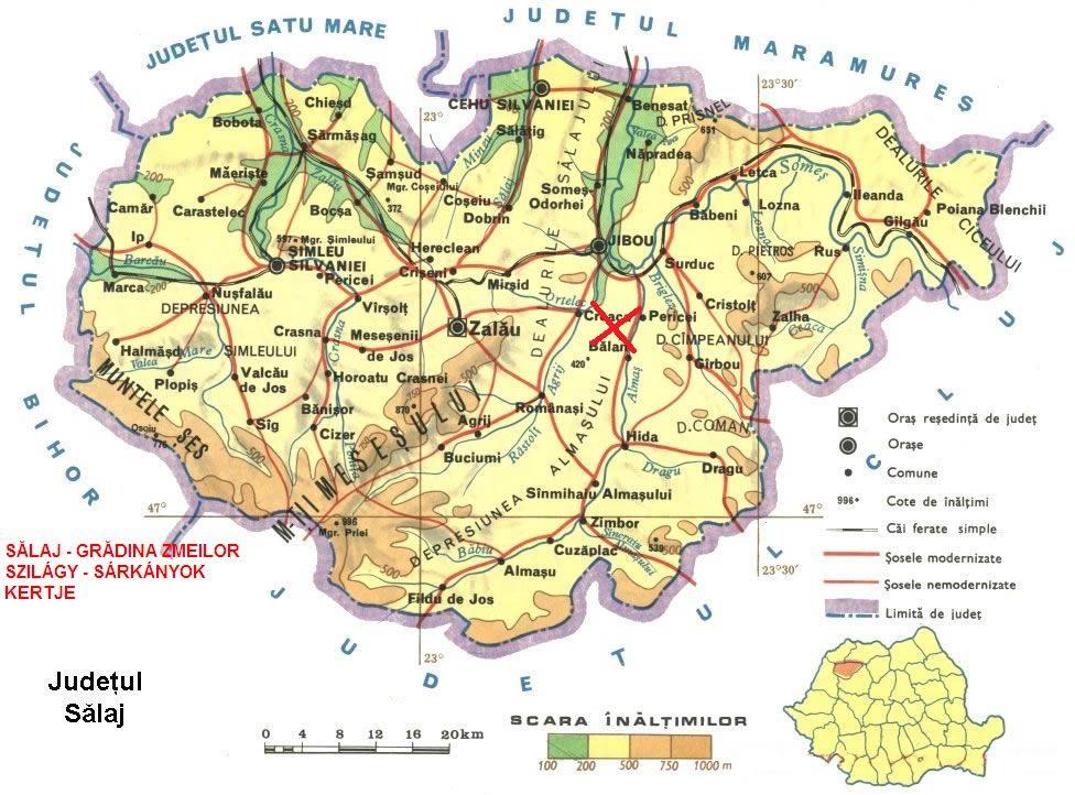 Sárkányok kertje turisztikai térképe - szállás