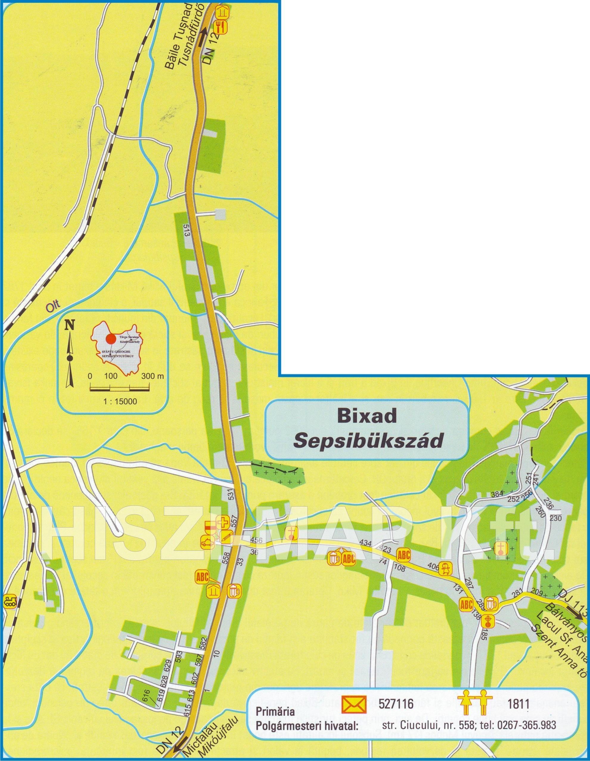Sepsibukszadturisztikai térképe - szállás
