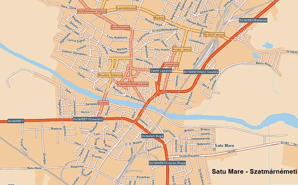 szatmárnémeti térkép Szatmárnémeti   Szatmár megye   Máramaros   Erdély   Kárpátmedence  szatmárnémeti térkép