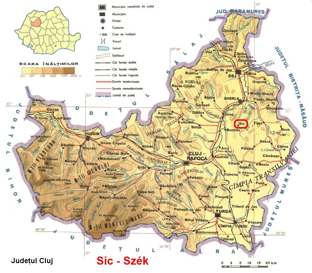 Szék  turisztikai térképe - szállás