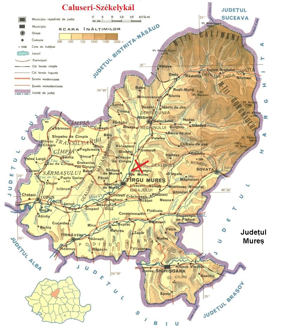 Székelykál turisztikai térképe - szállás