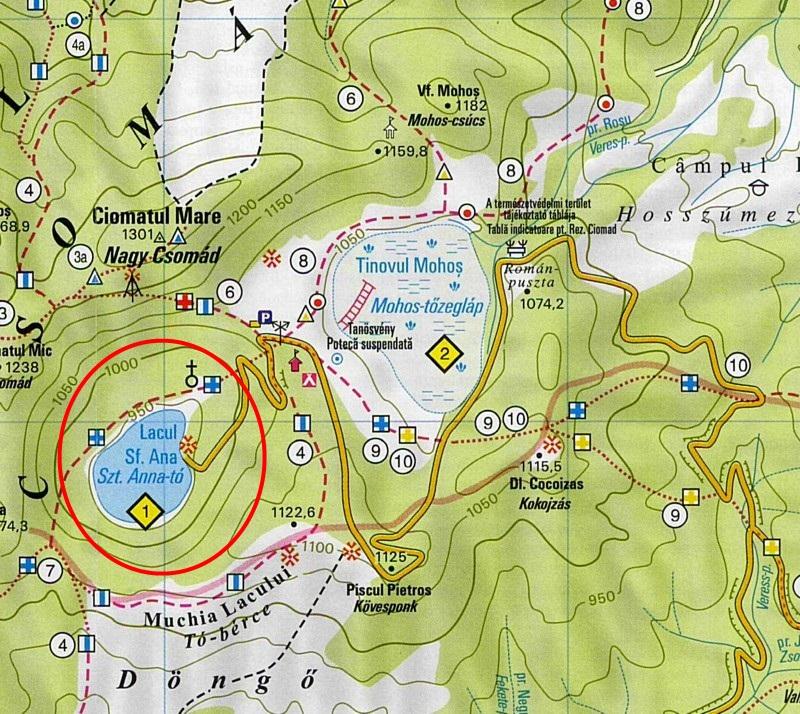 Szent Anna tóturisztikai térképe - szállás