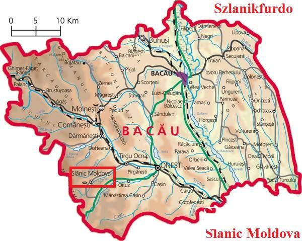Szlanikfürdő turisztikai térképe - szállás